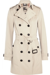 Burberry The Sandringham Mid Cotton Gabardine Trench Coat