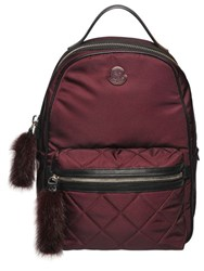 Moncler Georgette Nylon Backpack W Mink Fur