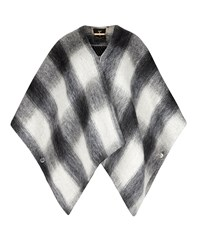 Ted Baker Emmaa Brushed Wool Checked Cape Grey