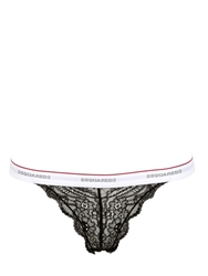 Dsquared2 Underwear Lace Thong Black