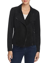 Velvet By Graham And Spencer Faux Suede Moto Jacket Black