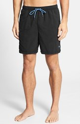 Men's Big And Tall Tommy Bahama 'Happy Go Cargo' Swim Trunks Black