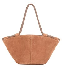 The Row Market Suede Tote Brown