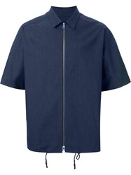 Juun.J Zipped Boxy Shirt Blue