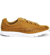 Nike Mayfly Cut Out Suede Trainers Bronze