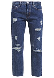 Earnest Sewn Straight Leg Jeans Blue Denim
