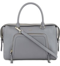 Dkny Chelsea Vintage Grained Leather Satchel Flint
