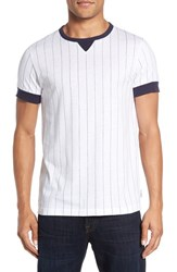 French Connection Men's 'Skyray' Pinstripe Ringer T Shirt