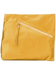 Diane Von Furstenberg Asymmetric Clutch Yellow Orange