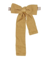 People Accessories Bow Ties Men Ocher