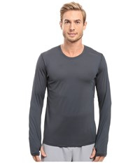 Brooks Steady Long Sleeve Top Asphalt Men's Long Sleeve Pullover Black
