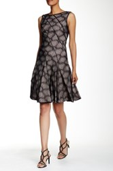 Zac Posen Cake Fit And Flare Dress Black