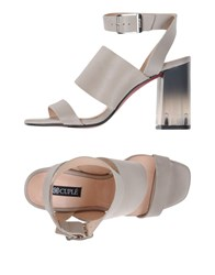Cuple Footwear Sandals Women Light Grey