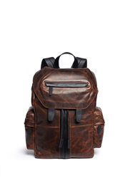Alexander Wang 'Marti' Distressed Leather Backpack Brown