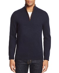 Bloomingdale's The Men's Store At Cashmere Mockneck Sweater Navy