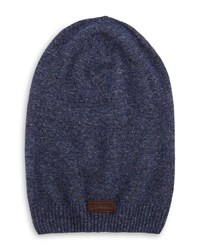 True Religion Ribbed Slouchy Beanie Hat Midnight Blue