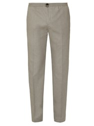 Joseph Tommy Tailored Cotton Trousers Grey