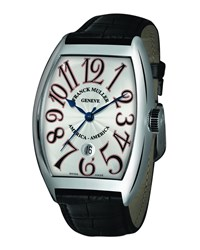 Men's Limited Edition Usa Curvex Watch With Alligator Strap Franck Muller Silver