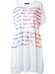 Vivienne Westwood Anglomania 'Baby Tee Groan' Dress White