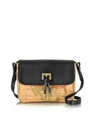 Alviero Martini Small Golden Tie Crossbody Bag Black
