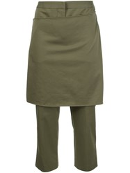 3.1 Phillip Lim Cropped Apron Trousers Green