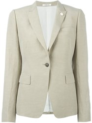 Lardini One Button Blazer Nude And Neutrals