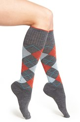 Sockwell Women's Argyle Compression Knee Socks Charcoal