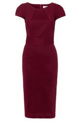 Wolf And Whistle Midi Length Tailored Dress Red