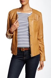 Lucky Brand Genuine Leather Jacket Brown
