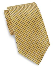 English Laundry Neat Floral Silk Tie Yellow
