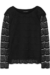 Marissa Webb Mina Lace Top Black