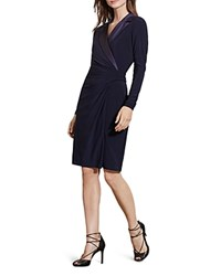 Ralph Lauren Jersey Tuxedo Dress Navy