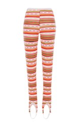 Blugirl Stripe Knit Foot Hole Leggings Multi