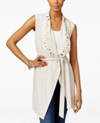 Inc International Concepts Grommet Trim Belted Vest Only At Macy's