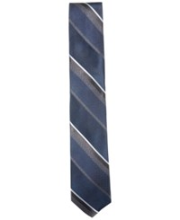 Ryan Seacrest Distinction Men's Huntington Stripe Slim Tie Only At Macy's Navy