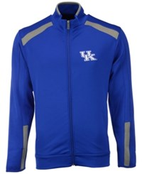 Antigua Men's Kentucky Wildcats Flight Full Zip Jacket Royalblue Gray