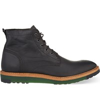 Diesel D Jarghe Leather Boots Black