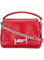 Tod's Logo Shoulder Bag Red