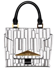 Vionnet Printed Leather Top Handle Bag