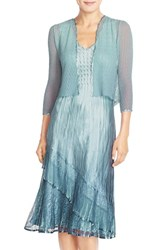 Women's Komarov Ombre Charmeuse A Line Dress With Jacket
