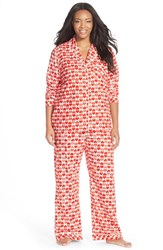 Plus Size Women's Nordstrom Flannel Pajamas Red Tango Heart