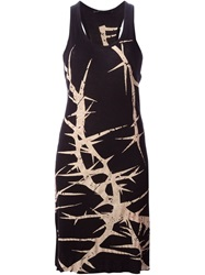 Haider Ackermann Printed Long Tank Top Black