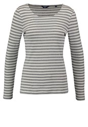 Gant Long Sleeved Top Grey Melange Silver