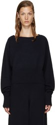 Chloe Navy Cropped Cashmere Sweater