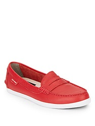 Cole Haan Nantucket Leather Loafers Red