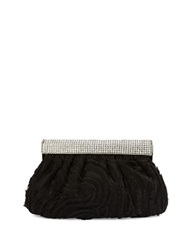 Sasha Metallic Pouch Clutch Black