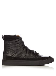Damir Doma Falco High Top Leather Trainers Black