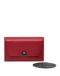Akris Anouk Cervo Envelope Clutch Bag Crimson