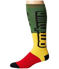 Thirtytwo Nations Sock Red Gold Men's Crew Cut Socks Shoes