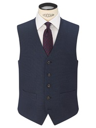 Chester By Chester Barrie Birdseye Tailored Suit Waistcoat New Blue